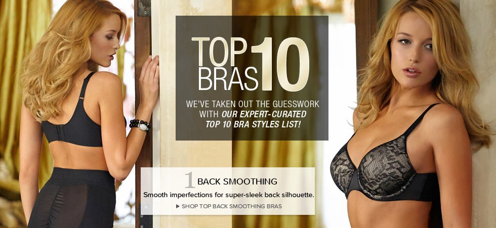 Top Back Smoothing Bras