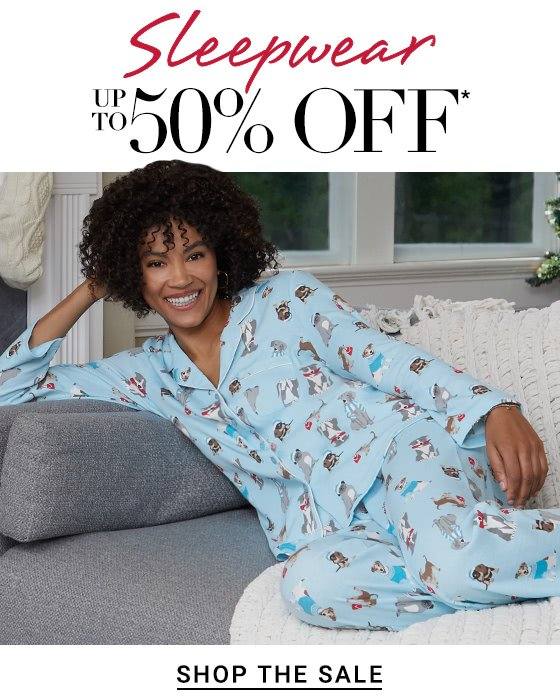 Sleepwear up to 50%