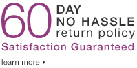 60 Day No Hassle Return Policy
