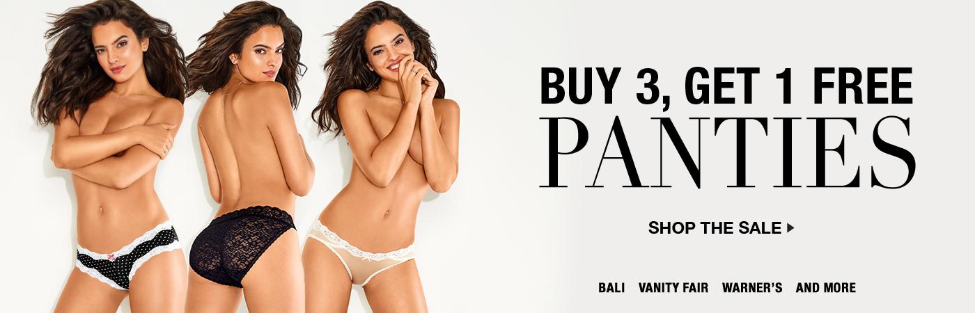 Buy 3 Panties Get 1 Free