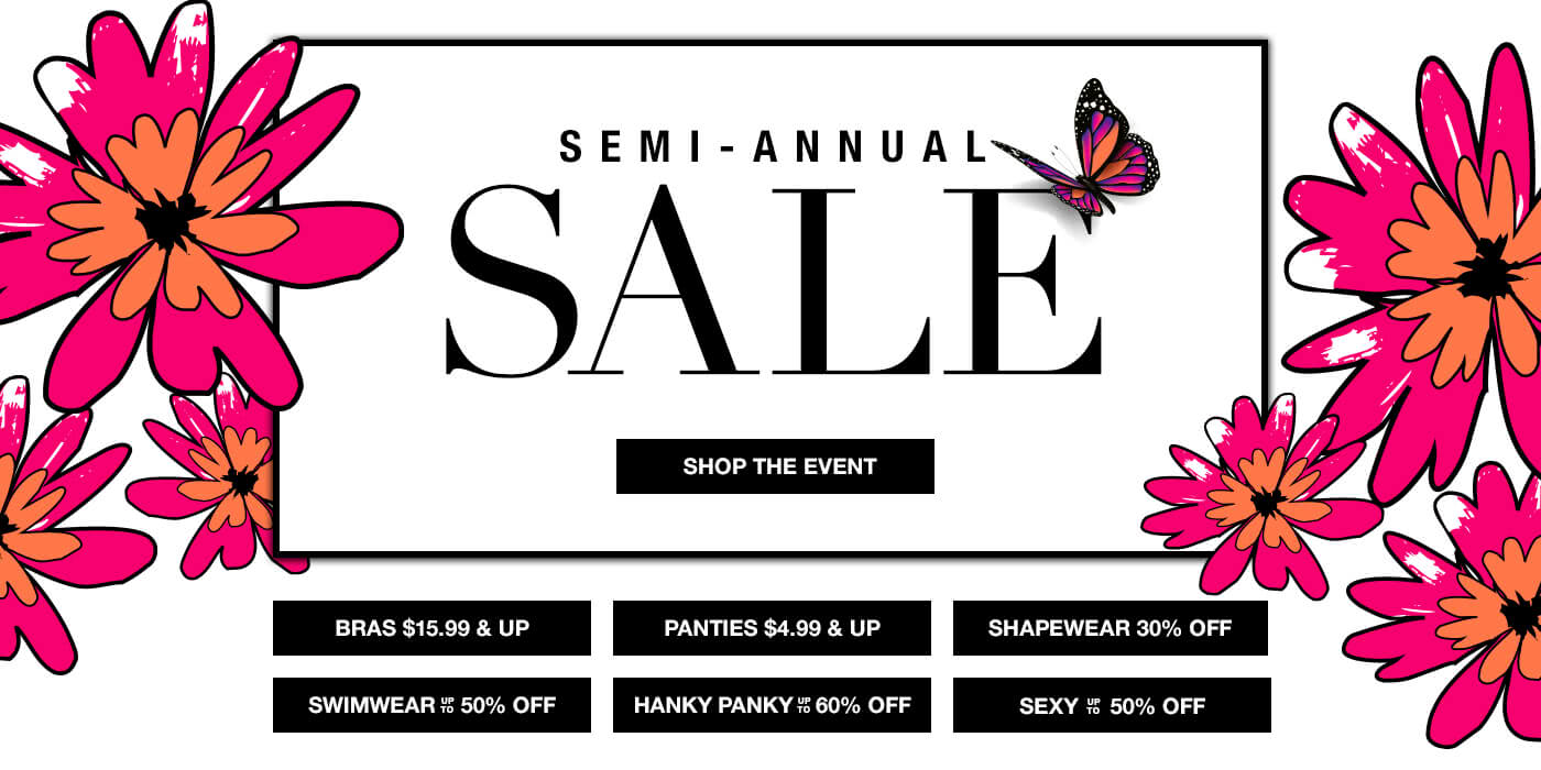 Shop Semi-Anual Sale at Bare Necessities