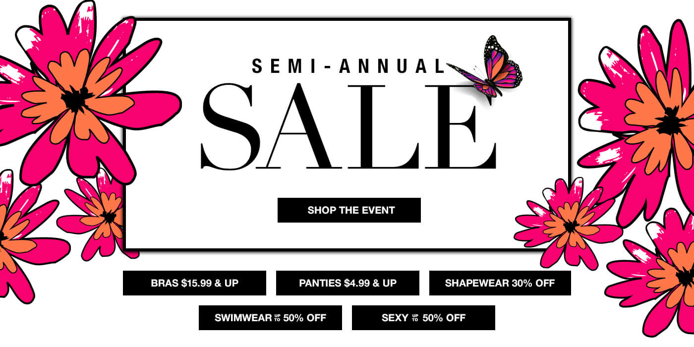 Shop Semi-Anual Sale at Bare Necessities