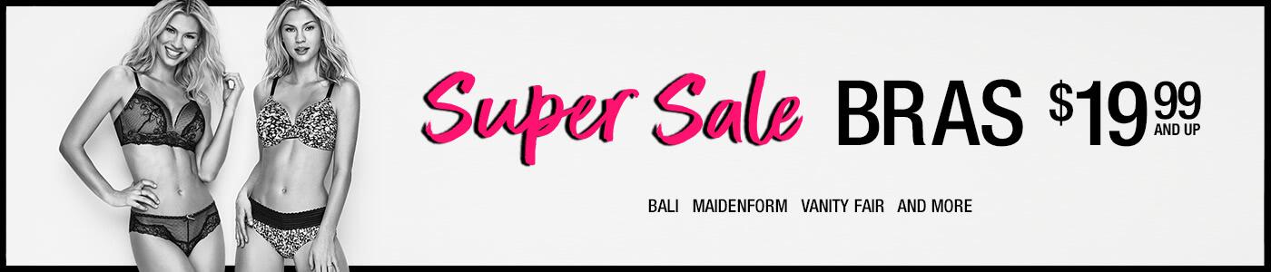 Shop Super Sale Bras $19.99 and up