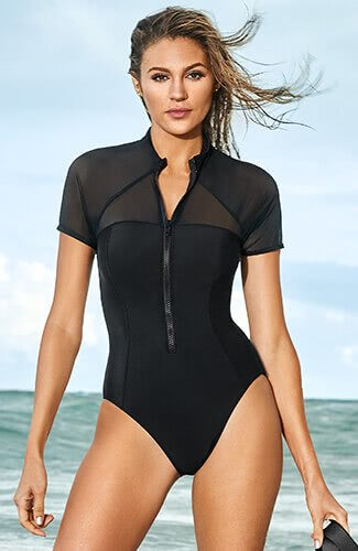 SOLID KYLIE WIRE-FREE ONE-PIECE