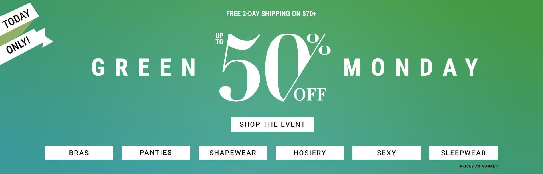 Shop Green Monday Sales from Bare Necessities