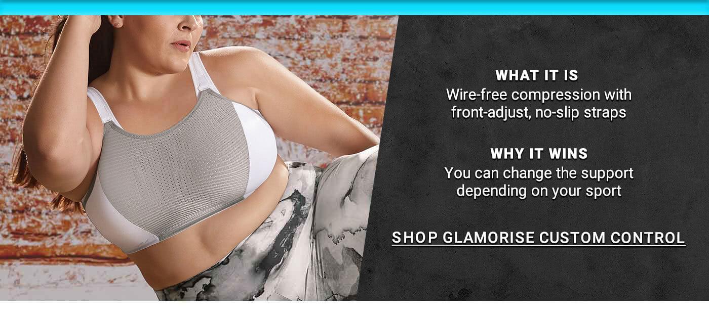 GLAMORISE CUSTOM CONTROL WIRE-FREE SPORTS BRA