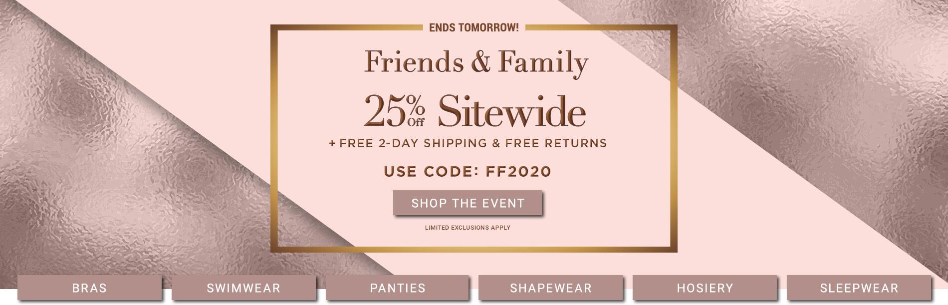 Shop Friends & Family Sale