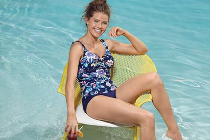 Holiday Paisley Swim Collection