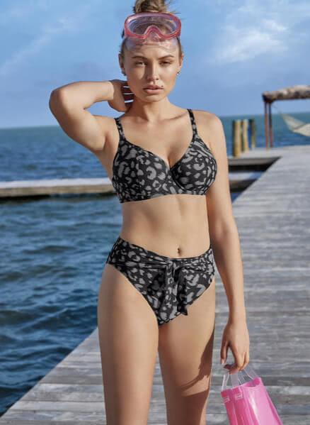 Fearless Feline Bikini Top